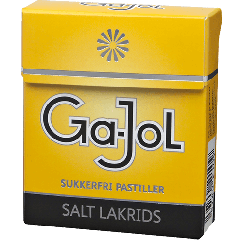 Ga-Jol - Salt Lakrids- Sukkerfri Pastiller - Trimex Trading